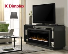 The modern design of this Dimplex David Media Console with Electric Fireplace offers open display and storage space while creating a floating fireplace. Fireplace Media Console, Linear Fireplace, Fireplace Inserts, Fireplace Drawing, Electric Fireplaces Direct, Electric Fireplace Tv Stand, Electric Fireplace Entertainment Center, Cool Tv Stands, Construction Design