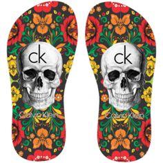 Estampa para chinelo Calvin Klein 001358
