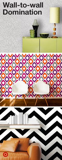 Add pattern + color to your college student's dorm room walls with peel & stick wallpapers.
