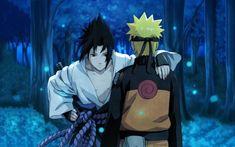 HD wallpaper: Uchiha Sasuke and Uzumaki Naruto, anime, Japanese Art, Naruto Shippuuden
