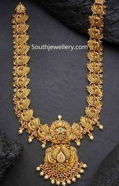 Jewellery Designs - Page 3 of 1600 - Latest Indian Jewellery Designs 2019 ~ 22 Carat Gold Jewellery one gram gold Gold Bangles Design, Gold Earrings Designs, Gold Jewellery Design, Gold Haram Designs, Gold Wedding Jewelry, Gold Jewelry, Bridal Jewelry, Gold Necklace, Carat Gold