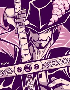 One Piece - Dracule 'Hawk Eyes' Mihawk by Kaigetsudo on DeviantArt Roronoa Zoro, One Piece Seasons, The Pirates, Es Der Clown, One Piece Chapter, The Pirate King, 0ne Piece, One Piece Manga, Fantasy