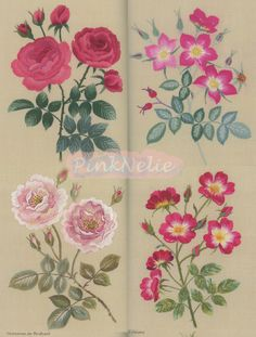 ROSES Embroidery Japanese Craft Book by PinkNelie on Etsy