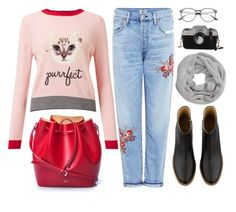 """Wednesday"" by monmondefou ❤ liked on Polyvore featuring Miss Selfridge, N°21, Citizens of Humanity, A.P.C., John Lewis, Fall, casual, black and red"