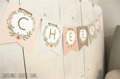 DIY Banner Letters Free Printable Alphabet -Anthropologie Knock Off - SohoSonnet Creative Living