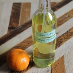 Homemade Citrus Cleaner by apartmenttherapy:  a powerful, inexpensive, natural cleaner made with leftover citrus peels!  #Citrus_Cleaner