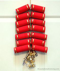 Chinese New Year Craft: Toilet Paper Tube Firecrackers | This West Coast Mommy