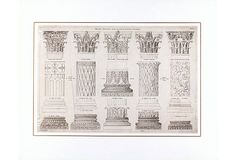 Antiquity Columns Print, 1800 on OneKingsLane.com