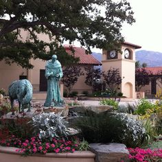 St. Francis High School. Home of the Golden Knights. Campus Courtyard in Full Bloom!