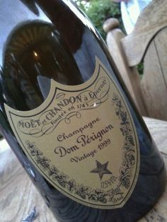 Dom Perignon champagne. The original. Very expensive. Tastes great with fresh orange juice for a mimosa on ur next brunch. The French use champagne as well as white white to cook. I am sure NOT this brand, it's expensive. -Mari