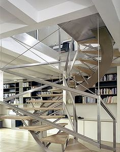 Steel, odd angles, amazing staircase