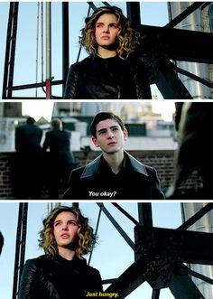 """You okay?"" - Bruce and Selina #Gotham"