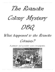 Roanoke, The Lost Colony Project: You Solve the Mystery
