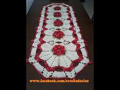 DIY - Caminho de mesa em Crochê (Diane Gonçalves) - YouTube
