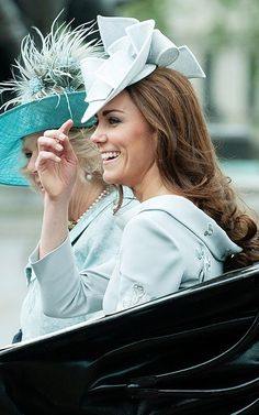Catherine #TheDuchess of #Cambridge a.k.a. #KateMiddleton @ Trooping The Colour June 16, 2012