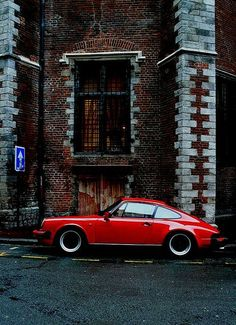Awesome Porsche 2017: Red Porsche by CitroenAZU on Flickr...  photography/places to visit