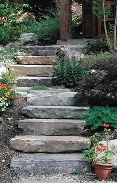 To the river Step Slab, Saratoga Granite, Champlain Stone