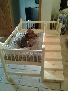 Wooden handmade Dog Cot / Bed (daschund/westie/yorkshire terrier) s More