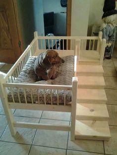 Wooden handmade Dog Cot / Bed (daschund/westie/yorkshire terrier) s