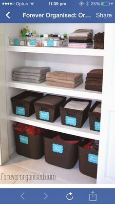 Simply Done: The Most Beautiful Linen Closet | Linens, Organizations And  Organizing