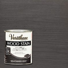 Varathane 1 qt. 3X Weathered Gray Premium Wood Stain (Case of 2)-267124 - The Home Depot