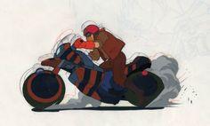 Akira Clown Biker Cel , in Matt Dickes Animation Cels Comic Art Gallery Room - 789731