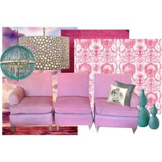 50's 3 Seater Sectional Upholstered in Pink Toile
