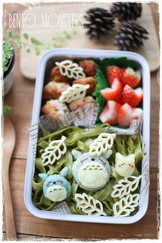 One thing I hate about school days is having to wake up at unearthly hours. I always make a resolution to sleep early at night, as I drag my. Cute Bento Boxes, Bento Box Lunch, Bento Food, Lunch Boxes, Cute Food, I Love Food, Good Food, Totoro, Bento Recipes