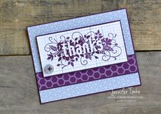 Stampin up Seasonally Scattered - Thanks.    I am going to make LOVE cards instead.