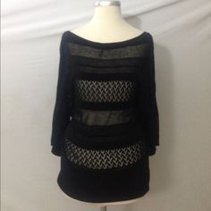 White House Black Market Sweater M Excellent condition. Visoce blend. Very soft. Hand wash.  Measurements when laid flat: Bust: 16 Length from top of shoulder to hem: 29 Length from under arm to hem: 17   /297/ White House Black Market Sweaters