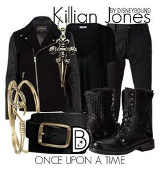 """Killian Jones"" by leslieakay ❤ liked on Polyvore featuring STONE ISLAND, Anine Bing, River Island, Alexis Bittar, Gap and Philipp Plein"