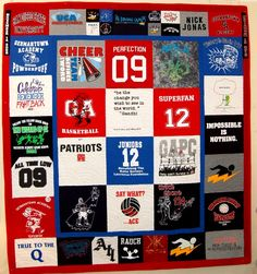 Stories of t-shirt quilts made for customers - both memory and bereavement quilts, along with collection quilts