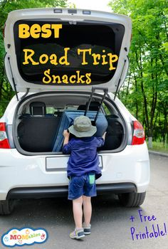 The Best Road Trip Snacks with FREE Printable List. via @Laura Jayson Jayson Jayson Fuentes/ MOMables.com