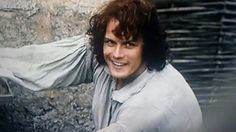 Jamie Fraser the king of men. Just look at that bloomer dropping smile! #outlander