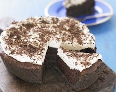 Mississippi mud pie recipe from the Hairy Bikers - crunchy base, rich chocolate filling and topped with whipped cream