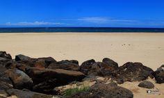 White Sand Beach near Waimea in Kauai, Hawaii