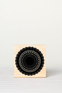 Rubber Stamp Doily ... I may have to get myself one of these