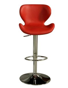 The Cagliari hydraulic barstool is beautifully crafted in quality metal chrome finish with sturdy legs and foot rest. This barstool has a simple yet elegant design that is perfect for any decor. The padded seat is upholstered in Pu Ivory, Pu Black, or Pu Red offering comfort and style. This elegant stool will definitely make a bold statement at your next cocktail party.