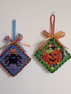 ACOD little Halloween ornies stitched by Cheri with Nimble Needle, Atl.