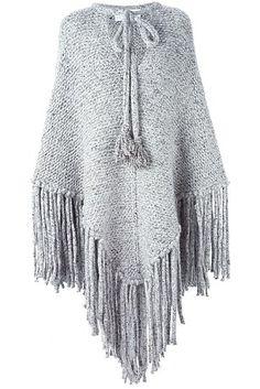 Chloe fringed poncho £1,745 farfetch.com