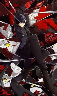 Persona 5 (Joker) by on DeviantArt Persona Five, Persona 5 Anime, Persona 5 Joker, Shiro, Der Joker, Ren Amamiya, Shin Megami Tensei Persona, Akira Kurusu, Pokemon