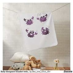Baby designers blanket with Crabs