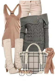 Love grey and pink together.