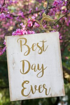 Handmade Wood Sign: Best Day Ever Wedding by BarcelonaDecoLab