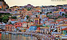 The beautiful colors of Parga Travel Around The World, Around The Worlds, Greek Beauty, Wanderlust Travel, Greek Islands, Homeland, Trip Planning, Places Ive Been, Beautiful Places