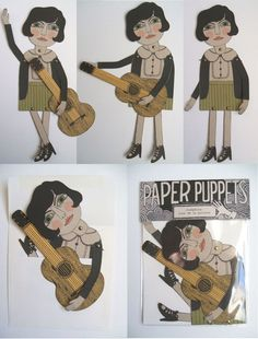Josephine - paper puppet by Pin Pals