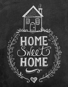 Home Sweet Home Chalkboard Art Print