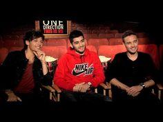 ONE DIRECTION movie interview - Harry Styles, Niall Horan, Liam Payne, Zayn Malik, Louis Tomlinson