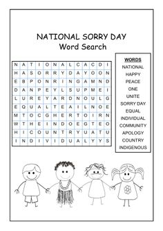 National Sorry Day Word Search - a great resource to introduce students to words associated with National Sorry Day. Aboriginal Education, Indigenous Education, School Resources, Teaching Resources, National Sorry Day, Primary History, Anzac Day, Funny Slogans, School Events