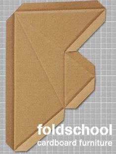 foldschool - cardboard furniture